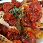 Petti di Pollo con Pomodori al Forno – Chicken Breasts with Oven Roasted Tomatoes