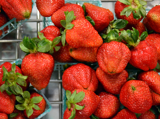 Strawberries with Prosecco, strawberries rinsed with cool water | labellasorella.com
