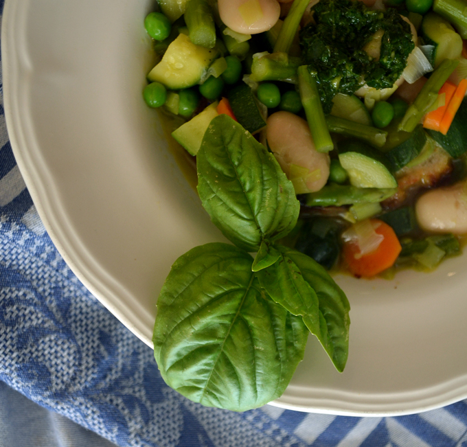 A magnificent display of color and flavor, Summer Vegetable Soup | labellasorella.com