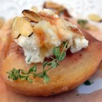 White Peaches Stuffed with Sheep Milk Ricotta – Pesche Bianche Ripeno con Latte di Ricotta di Pecora