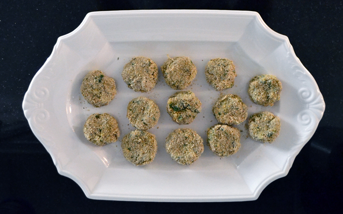 The Eggplant Polpette are ready to be fried | labellasorella.com