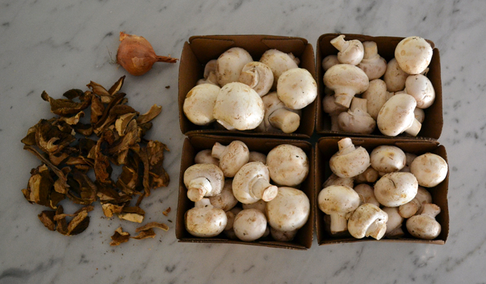 Dried porcini and fresh button mushrooms create a symphony of flavor | labellasorella.com