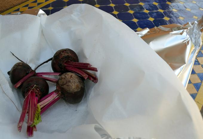 Preparing the beets to roast   labellasorella.com