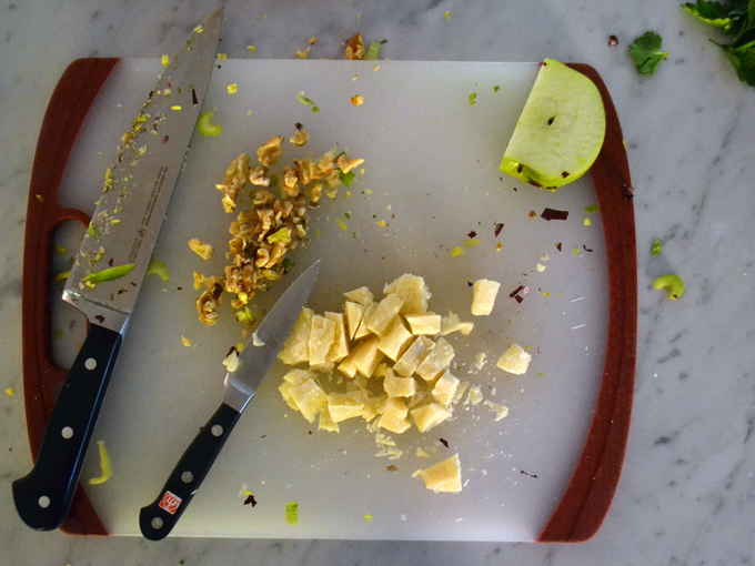 Parmigiano chunks and walnut pieces give the salad a nice texture | labellasorella.com