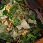 Radicchio, Celery & Apple Salad with Parmigiano – Insalata di Radicchio, Sedano e Mela con Parmigiano