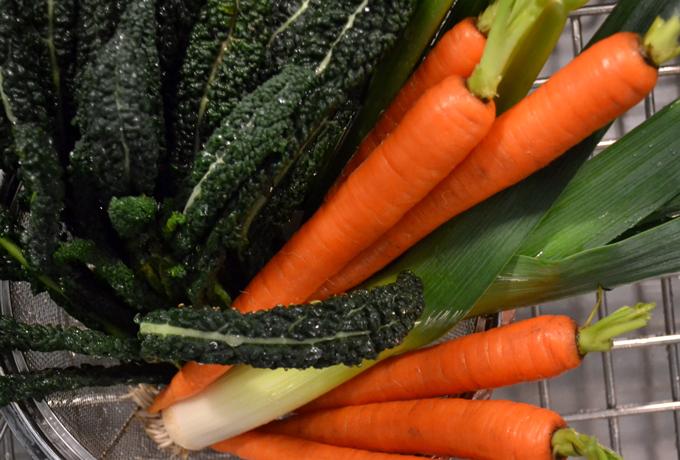 Assorted vegetables for Chicken Vegetable Soup   labellasorella.com