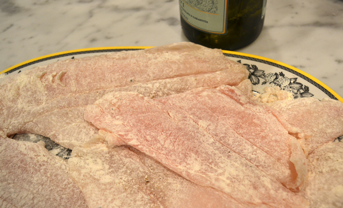 Seasoned, floured, and ready to sauté   labellasorella.com