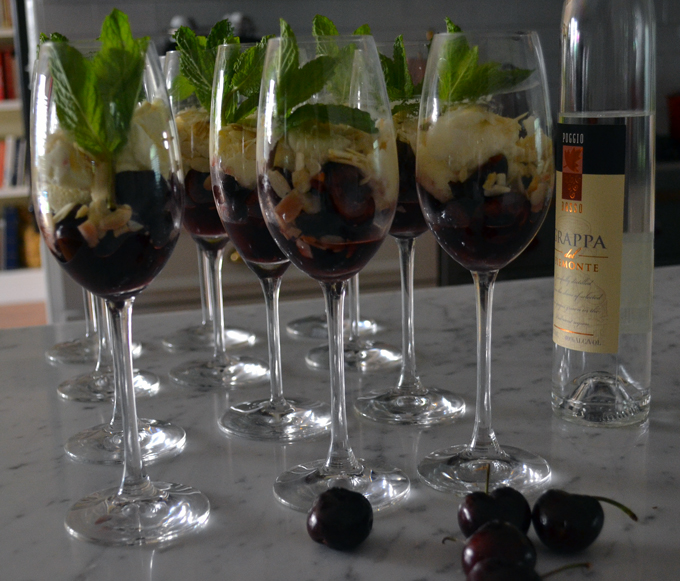 Cherries with Grappa & Mascarpone, let the dessert begin! | labellasorella.com
