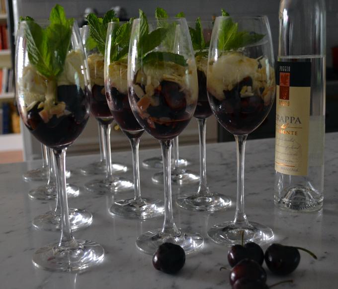 Cherries with Grappa & Mascarpone, let the dessert begin! | labellasorella.com