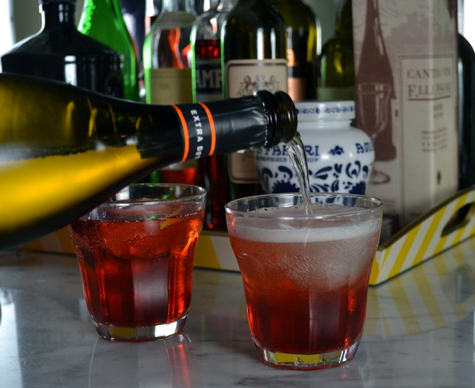 Prosecco Il Colle, always our choice for a Negroni Sbagliato | labellasorella.com