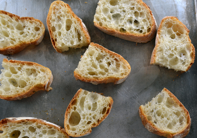 Thickly sliced Ciabatta ready to toast | labellasorella.com