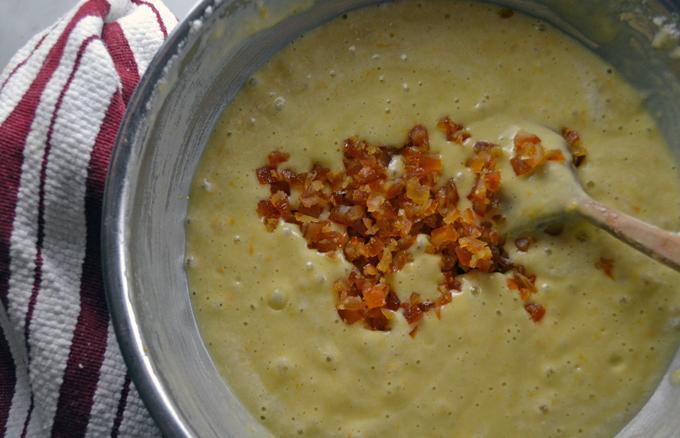 Add the candied orange peel at the last moment | labellasorella.com