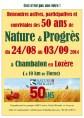Aff des 50 ans de N&P en Lozère