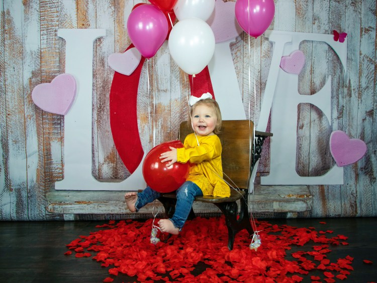 Valentine's Day Holiday Mini Session with baby image