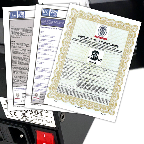 Labelmoto electric label dispensers cert