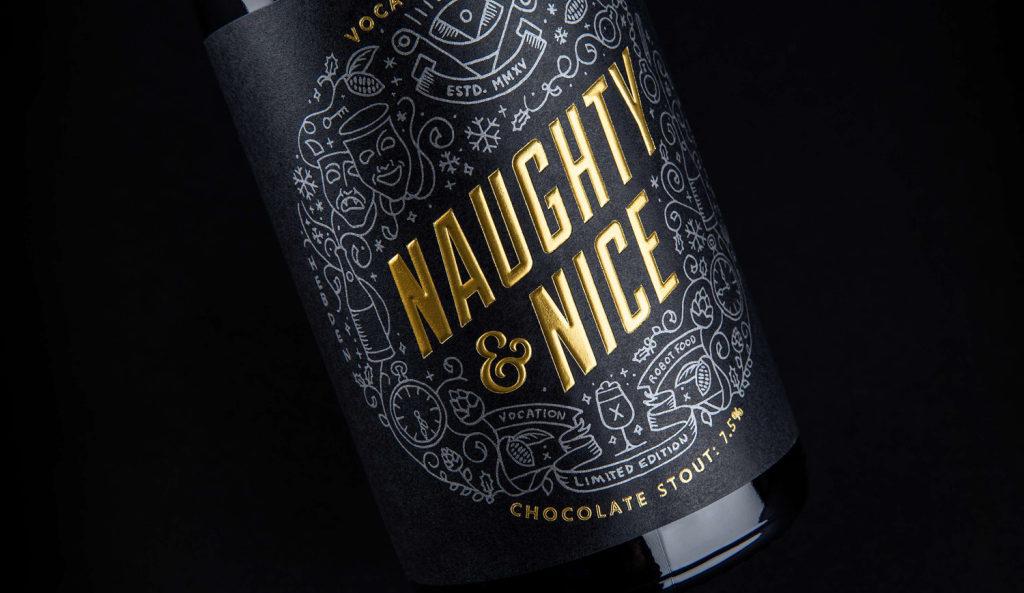 naughty and nice label