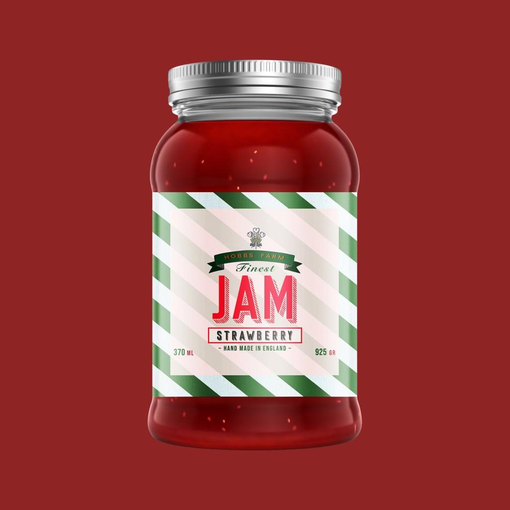 jam strawberry label