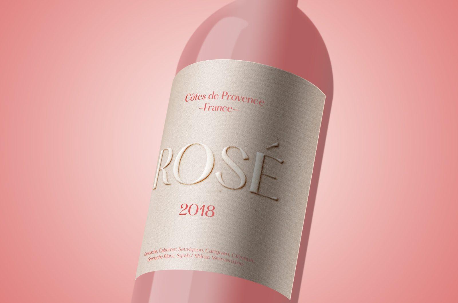 rose wine label
