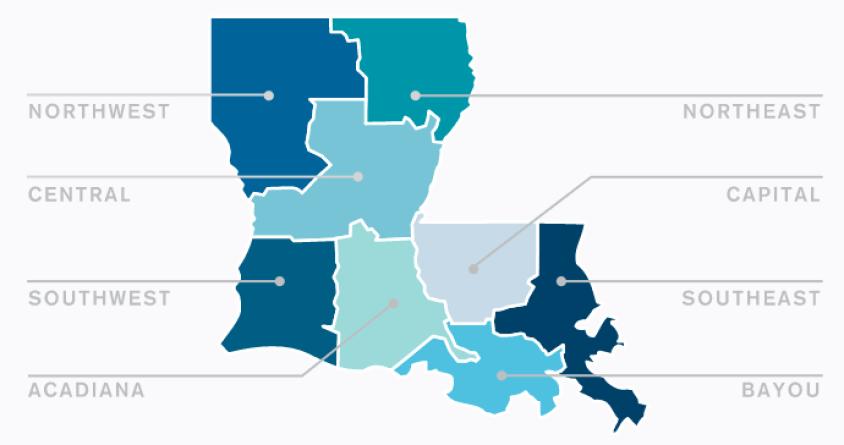 Louisiana's Economic Development Regions