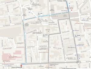 Plan d'accès Dimora De Mauro