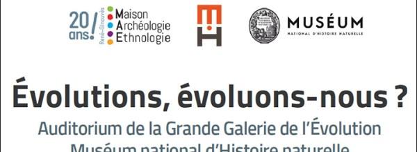 Appel à communication – Colloque «Évolutions, évoluons-nous ?»