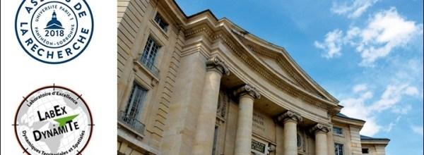 11 et 13/12/18 – Le LabEx DynamiTe participe aux Assises de la recherche de l'Université Paris 1 Panthéon-Sorbonne