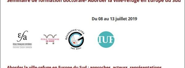 Séminaire de formation doctorale «Aborder la ville-refuge en Europe du Sud»