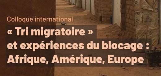 """Affiche du colloque """"Tri migratoire"""""""