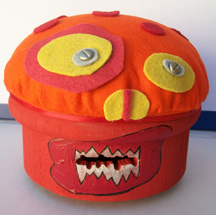 Monster - The Mexican Wrestler Bank (front)
