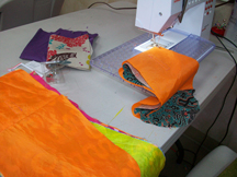 Sewing bags on a regualr machine after the Serger is axed