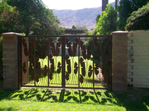 A gate in Rancho Mirage