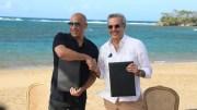 Abinader y Vin Diesel