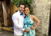 Manny Cruz y su esposa Yeri Peguero