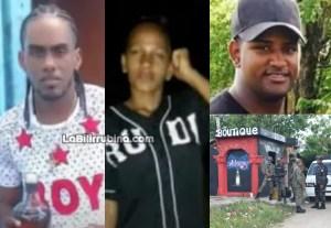 Entre los muertos figuran la joven Flaury Jimenez, y otros dos hombres solo conocidos como Deivi Rosa Payano y Tico