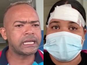 Un hermano del agresor y Kirsi Reyes Hidalgo