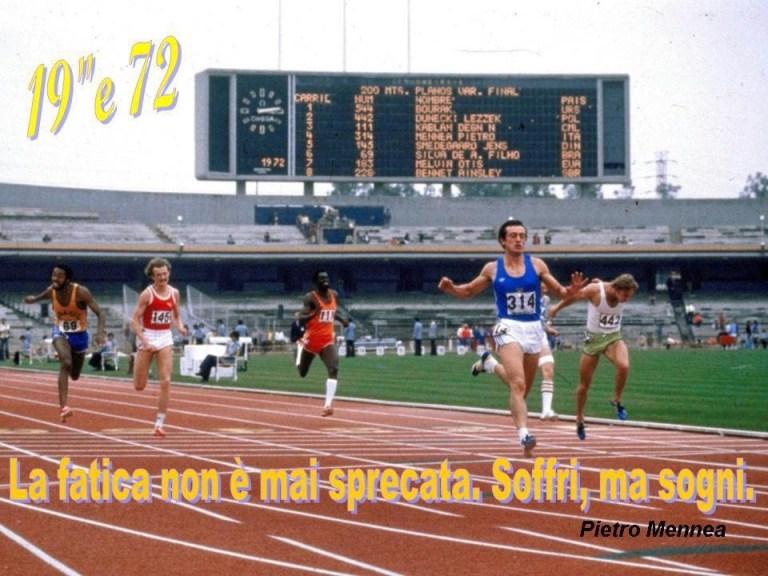 Atletica nel Sangue: Pietro Mennea: dalla Terra al Paradiso in 19''72