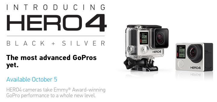 GoPro Hero4: Disponibile il 5 Ottobre in due versioni