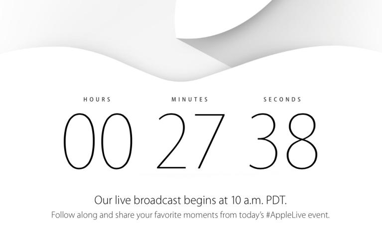 Evento Apple a meno di 30 minuti!