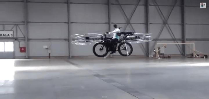 Ecco a voi la bicicletta volante…!