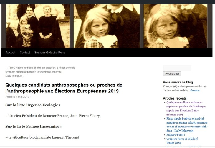 candidats européens anthroposophes