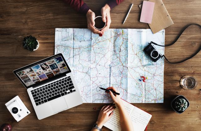 map and planning travel