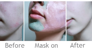 Before and after - Mask on