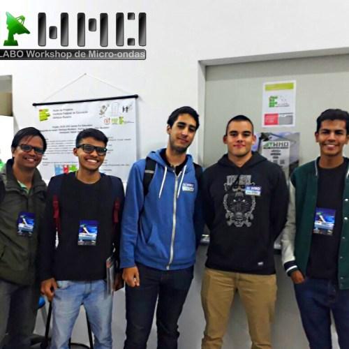 Parte da equipe de apoio formada pelos alunos do curso Superior de Mecatrônica Industrial.