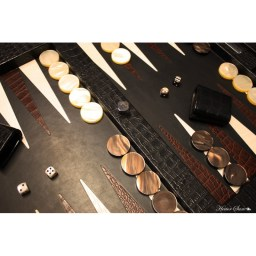 table-de-backgammon-cuir-imprime-crocodile-noir (1)