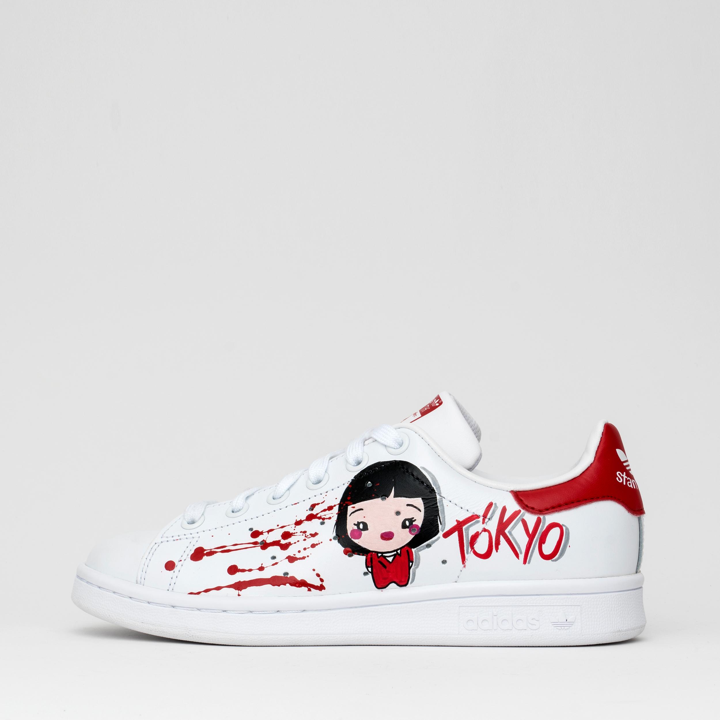 Adidas Stan Smith x Debsy : Casa de Papel Tokio & El Profesor