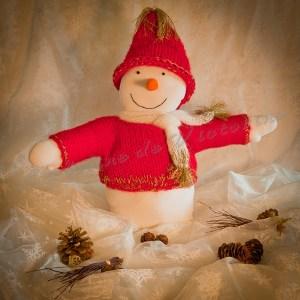 Bonhomme de neige de Noël en tissu