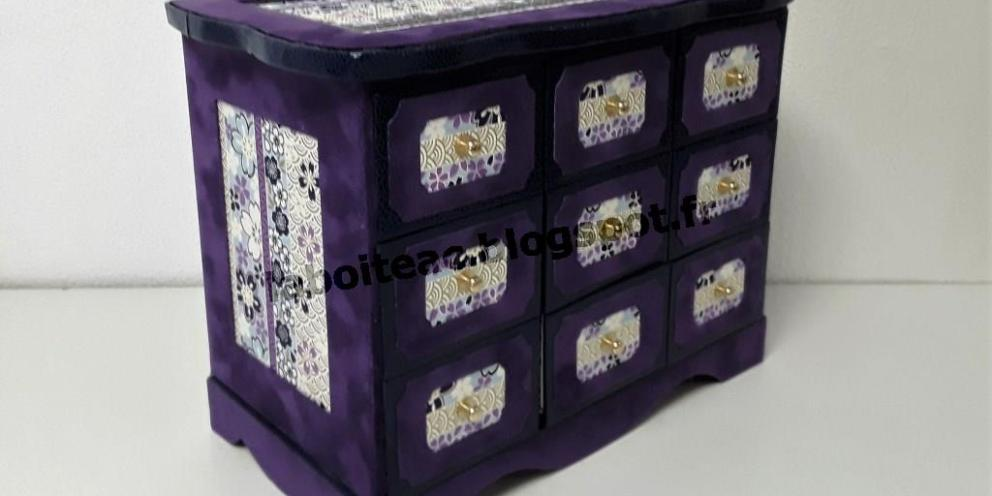 Commodes , boites à tiroirs et boites à bijoux