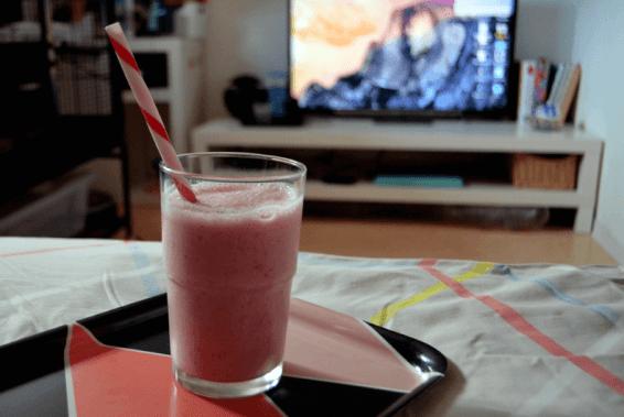 smoothie fraise banane vanille