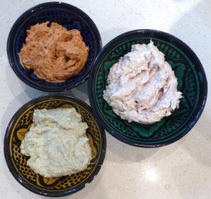 les trois crèmes à tartiner