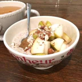 porridge délice poire caramel